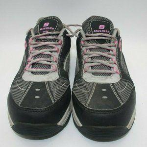 Black Skechers Women's Steel Toe Work Shoes US 9